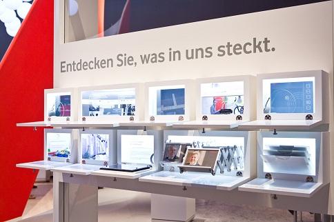 rothfabrik Ausstellungssystem für die Cebit